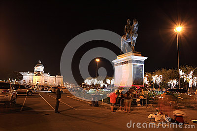 the King Rama 5 Equestrian Monument Editorial Photo