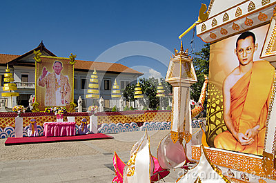 King s Birthday Display, Thailand Editorial Photo