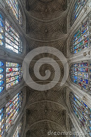 Free King`s College Chapel Interior Stock Photo - 119725790