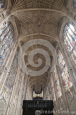 Free King`s College Chapel Interior Stock Photos - 119726113