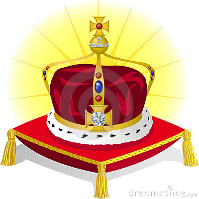 King s Crown on Pillow/eps