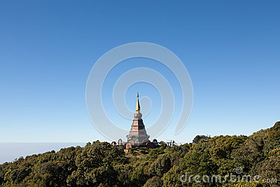 King s pagoda on mountain