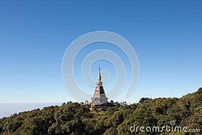 King s pagoda on mountain