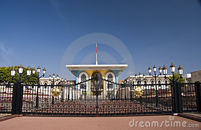 King s palace in muscat, oman