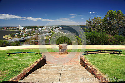 King s Park in Perth, Western Australia Editorial Stock Photo