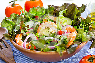 King s prawn salad