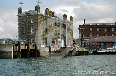 King s Steps, Portsmouth Naval Base Editorial Image