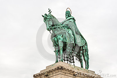 King Saint Stephen statue at Matthias Church