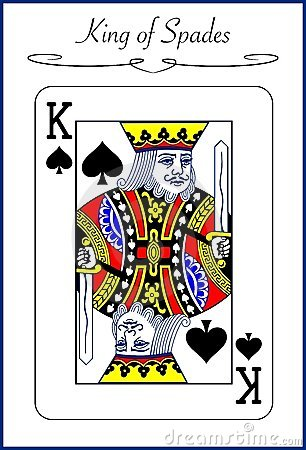 King of Spades, illustration of a playing card