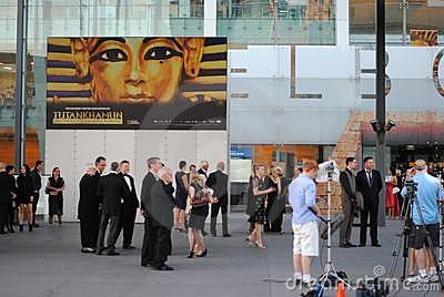 King Tut Exhibition Melbourne Opening Editorial Stock Image