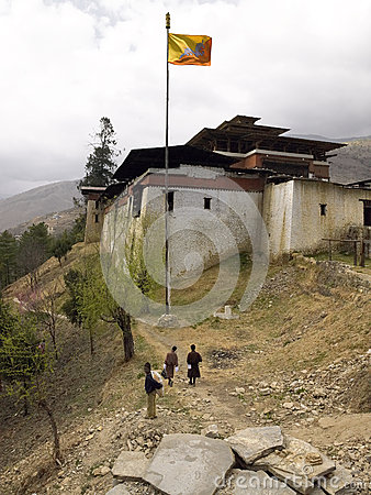 Buddhist Dzong - Kingdom of Bhutan Editorial Photography