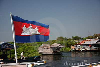 The Kingdom of Cambodia Flag
