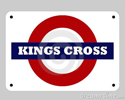 Kings Cross underground sign Editorial Stock Image