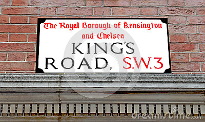 Kings Road Street sign