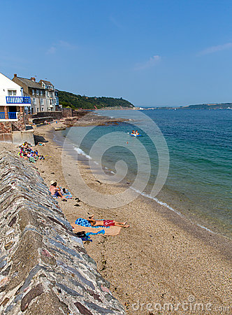 Kingsand beach Cornwall England United Kingdom on the Rame Peninsula overlooking Plymouth Sound Editorial Photo