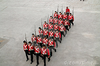 Kingston Ontario Canada Fort Henry Guard Editorial Photo