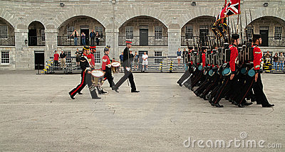 Kingston Ontario Canada Fort Henry Guard Editorial Stock Photo