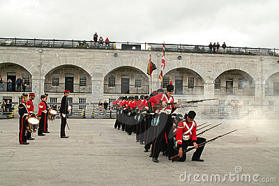 Kingston Ontario Canada Fort Henry Guard Editorial Photography