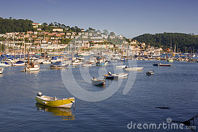 Dartmouth Estuary and Kingswear, Devon, UK