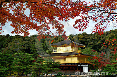 Kinkakuji  in autumn