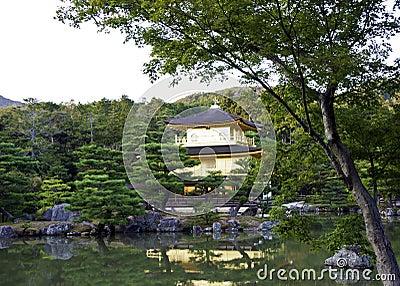 Kinkakuji in autumn season at Kyoto, Japan.