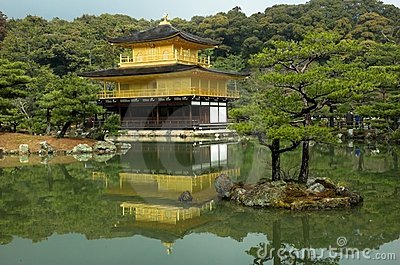 Kinkakuji - the famous Golden Pavilion at Kyoto, Japan