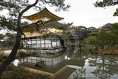 Kinkakuji, Golden Pavilion; Kyoto, Japan Editorial Stock Image