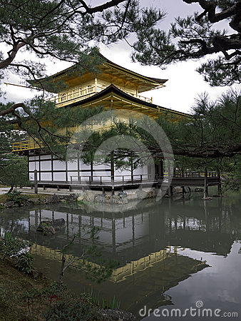 Kinkakuji Temple Golden Pavilion Kyoto Editorial Stock Image