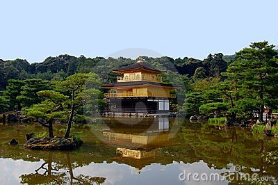 Kinkakuji Temple (The Golden Pavilion) in Kyoto, J