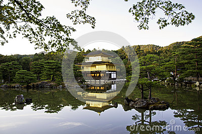 Kinkakuji Temple of the Golden Pavilion, Kyoto, Japan.