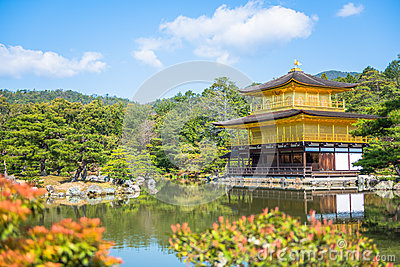 Kinkakuji Temple  The Golden Pavilion  in Kyoto