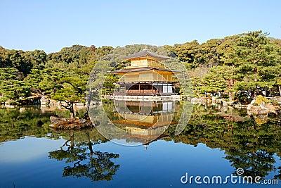 Kinkakuji temple or Golden Pavillion in Kyoto