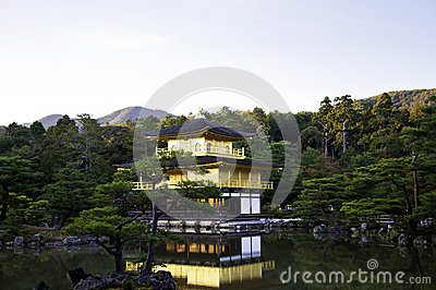 Kinkakuji temple in Kyoto,Japan