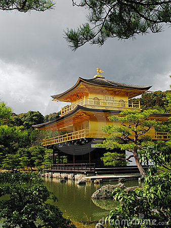 Kinkakuji Temple in Kyoto, Japan