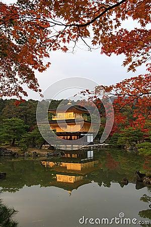 Free Kinkakuji  - The Famous Golden Pavilion At Kyoto Stock Image - 25861561
