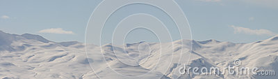 Snowy mountain range panorama