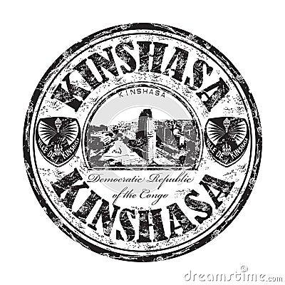 Kinshasa grunge rubber stamp