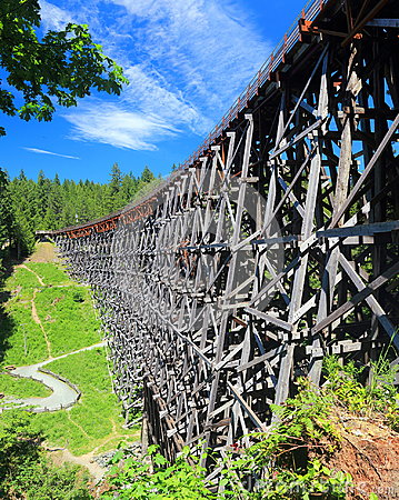 Free Kinsol Trestle, Shawnigan Lake, Vancouver Island Royalty Free Stock Images - 97263059