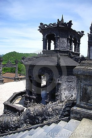 Kiosk at the tomb of King Khai Dinh in Hue