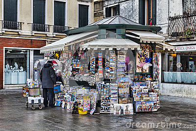 Kiosk in Venice Editorial Photo