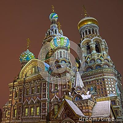 Kirche des Retters auf Blut in St Petersburg