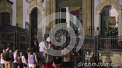 Kirche unserer Dame des Rosenbeetes der Schwarzen, lang von pelourinio, Salvador-bahi stock video footage