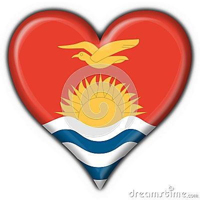 Kiribati button heart round