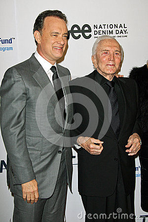 Kirk Douglas,Tom Hanks Editorial Photo