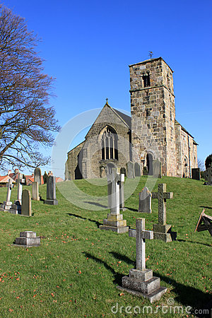 Kirk Hammerton village church, Yorkshire, England