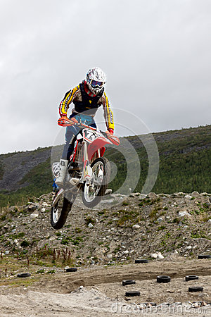 KIROVSK,RUSSIA-AUGUST 24: Races competitions on motorcycles on a Editorial Stock Photo
