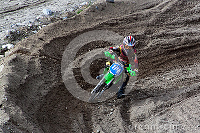 KIROVSK,RUSSIA-AUGUST 24: Races competitions on motorcycles on a Editorial Stock Image