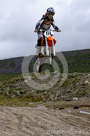 KIROVSK,RUSSIA-AUGUST 24: Races competitions on motorcycles on a Editorial Image