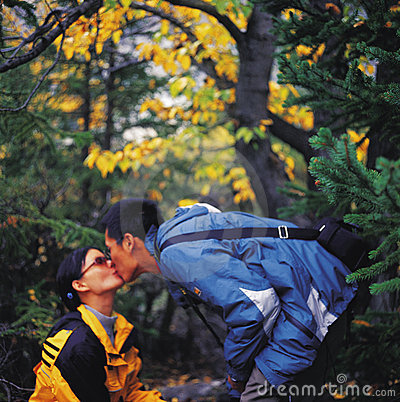Kiss in autumn