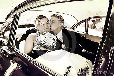 Kiss on the backseat